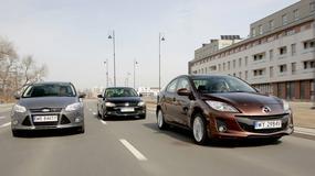 Ford Focus kontra Mazda 3 i Volkswagen Jetta: limuzyny małego formatu