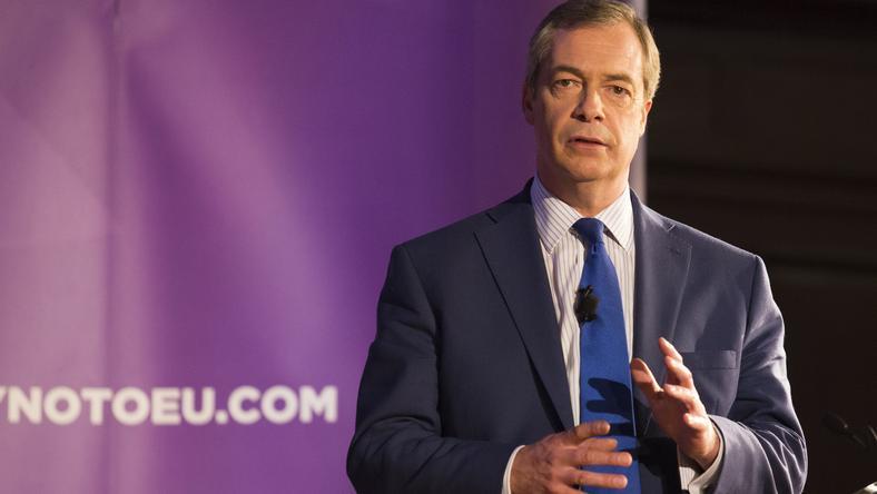 Nigel Farage túlélte a merényletet / Fotó: AFP