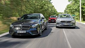 Mercedes E 220d vs Jaguar XF 2.0 vs Volvo S90 D4