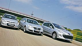 Hyundai i30 CW kontra VW Golf Variant i Peugeot 308 SW - Golf poważnie zagrożony