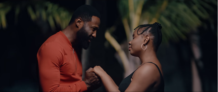 Frankincense Eche-Ben plays the role of Austine, Yemi Alade's love interest in the short film, 'Home'. [YouTube/Yemi Alade]