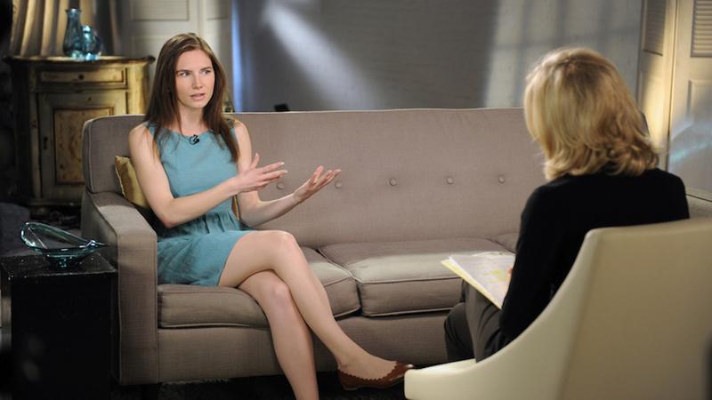 Amanda Knox podzczas wywiadu w stacji ABC, fot. AFP