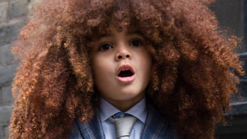 Farouk elképesztő hajkoronájával már 4 évesen London sztárja / Fotó: Instagram