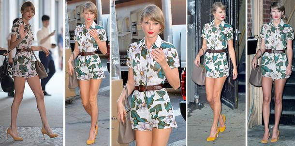 Best Look: Taylor Swift w kombinezonie Topshop
