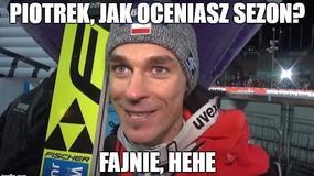 To był wyjątkowy sezon dla polskich skoczków - memy