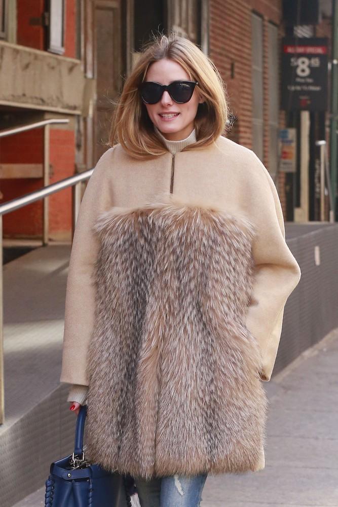 Olivia Palermo w płaszczu Max Mara