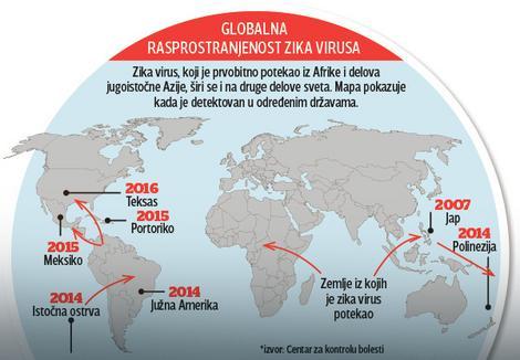 Rasprostranjenost Zika virusa