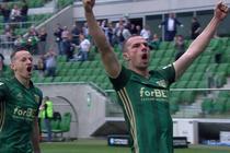 Śląsk - Sandecja (1:0): Pierwsze bramka Cholewiaka w Ekstraklasie! I to jaka! Gliwa bezradny po pięknym uderzeniu