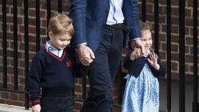 Księżniczka Charlotte i książę George odwiedzili mamę w szpitalu i powitali brata