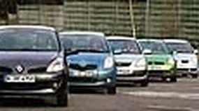 Toyota Yaris, Ford Fiesta, Kia Rio, Mitsubishi Colt, Renault Clio - Który największy wśród małych?