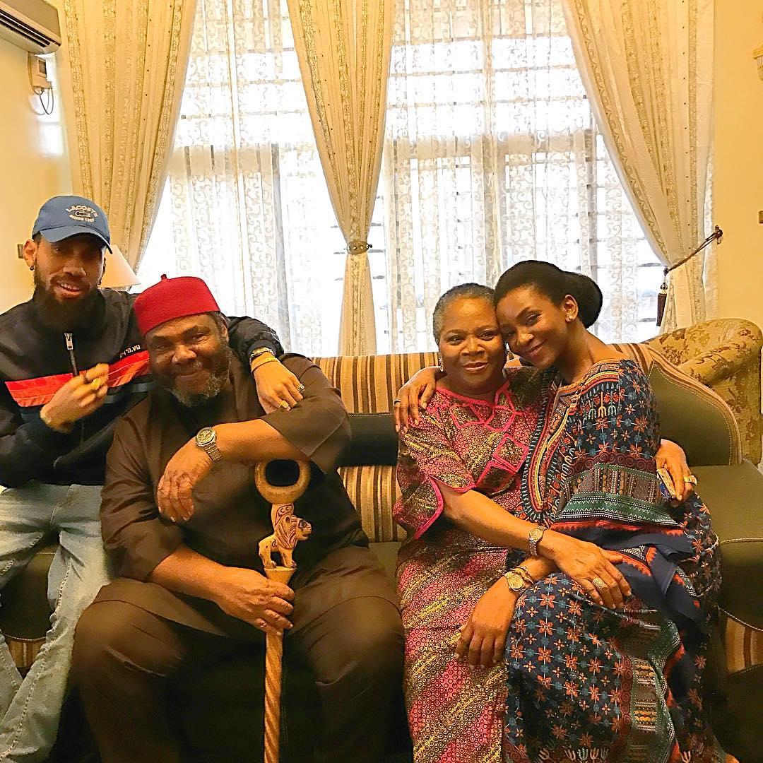'Lionheart' was Genevieve's directorial debut and she also starred in the film alongside popular Nollywood names like Nkem Owoh, Pete Edochie, Onyeka Onwenu, Kanayo O. Kanayo and Nigerian rapper Phyno. [Instagram/GenevieveNnaji]
