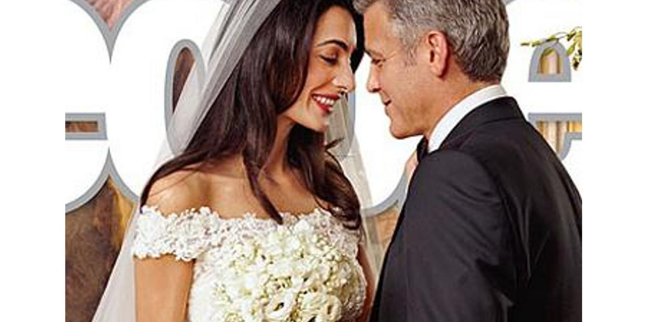 Amal Alamuddin  i George Clooney, okładka PEOPLE
