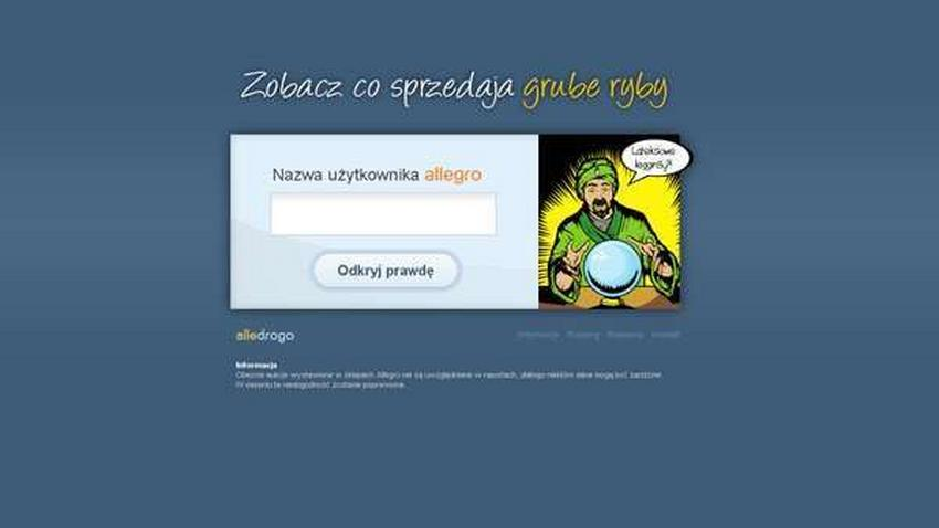 Alledrogo.pl, czyli Allegro pod lupą