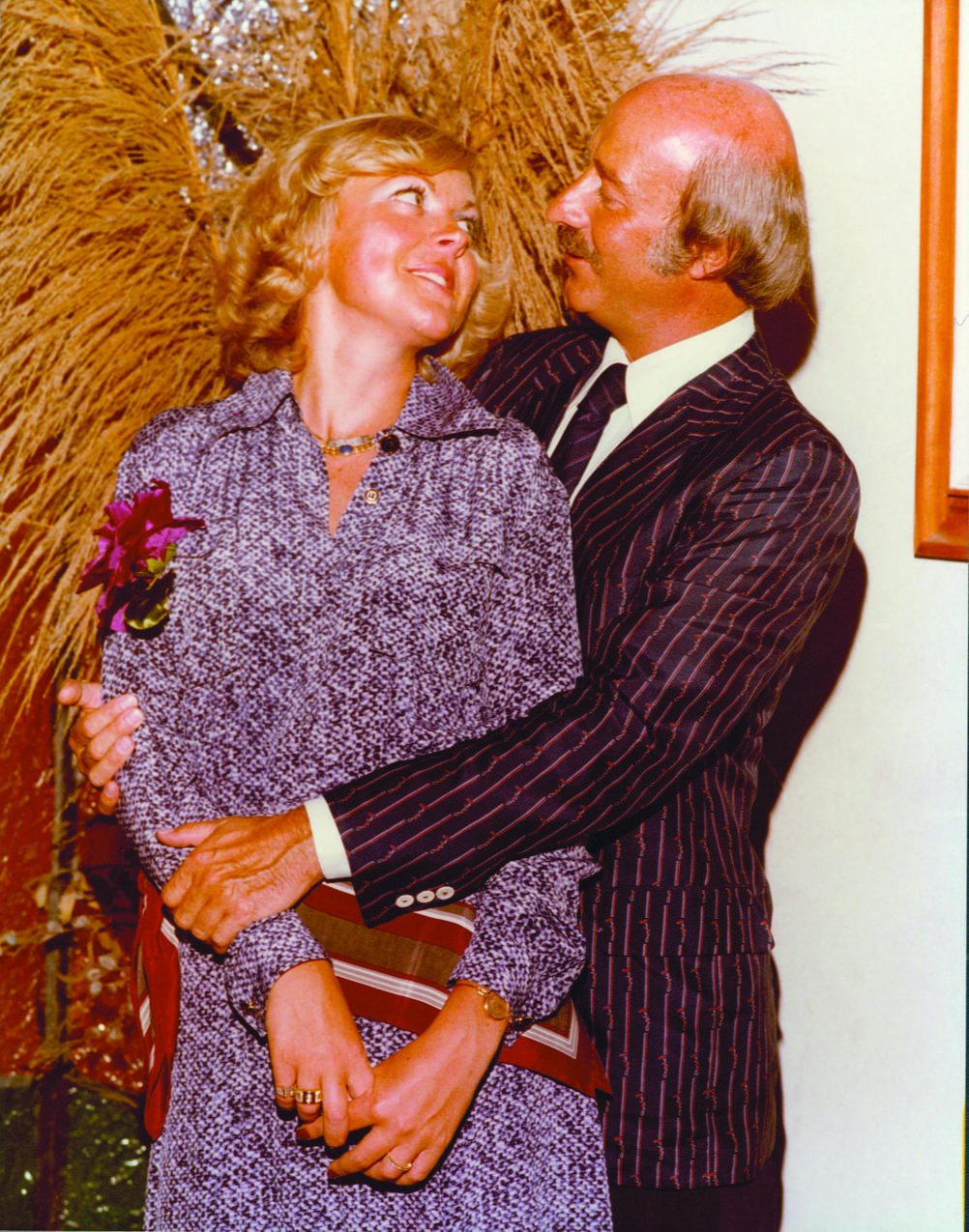 Jenny i Paolo Gucci w dniu ślubu