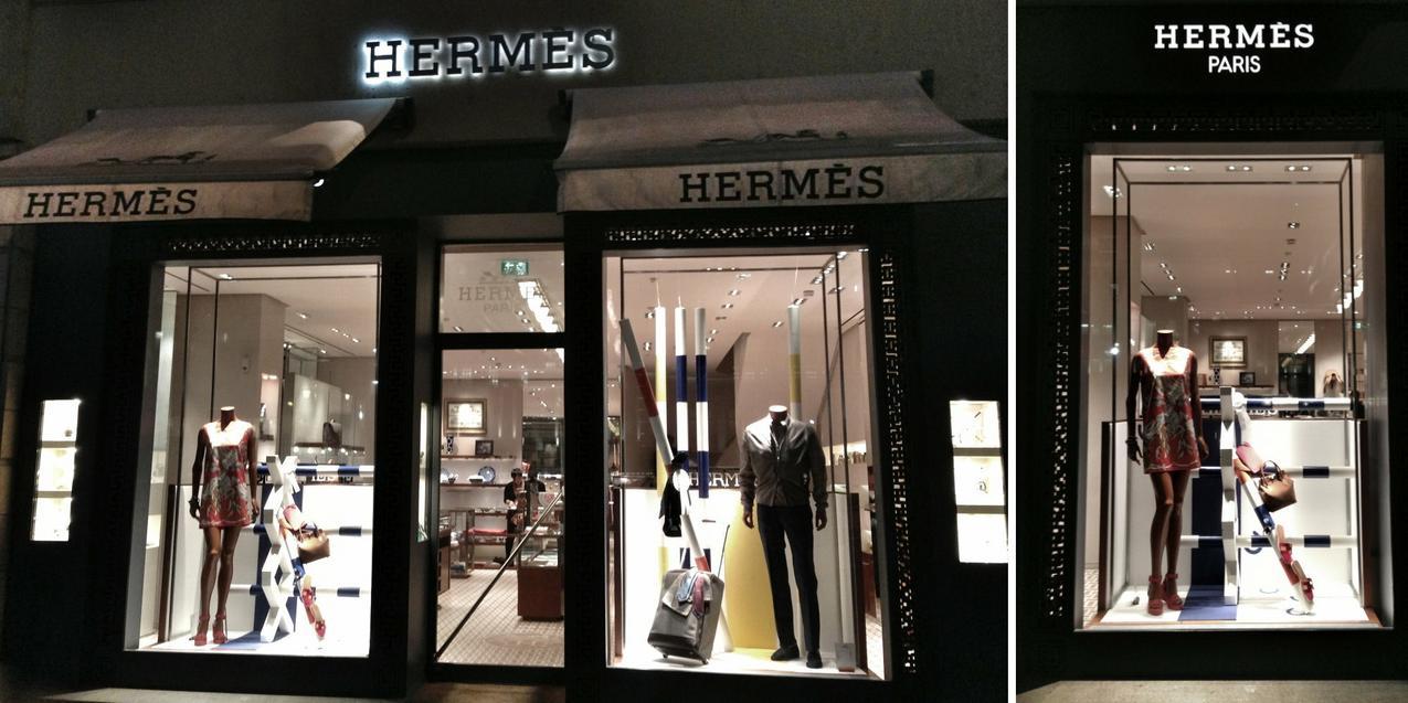 Butik Hermesa na Königsallee.