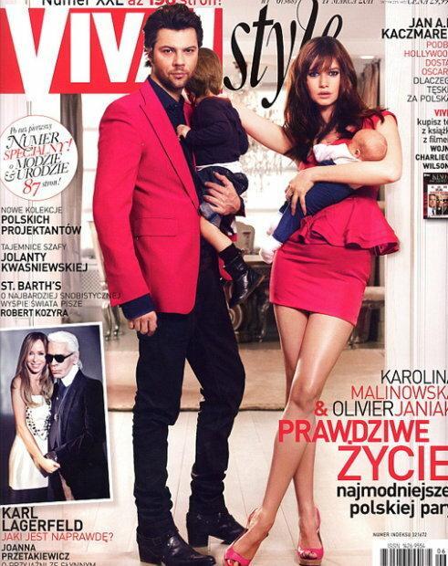 Karolina Malinowska i Olivier Janiak na okładce VIVY / fot. VIVA