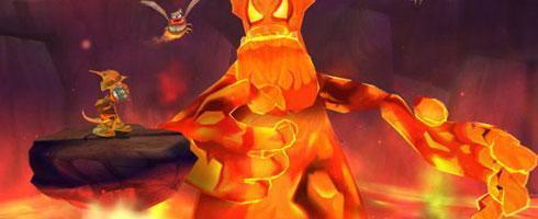 """Screen z gry """"Kangurek Kao 3: Tajemnica Wulkanu"""""""