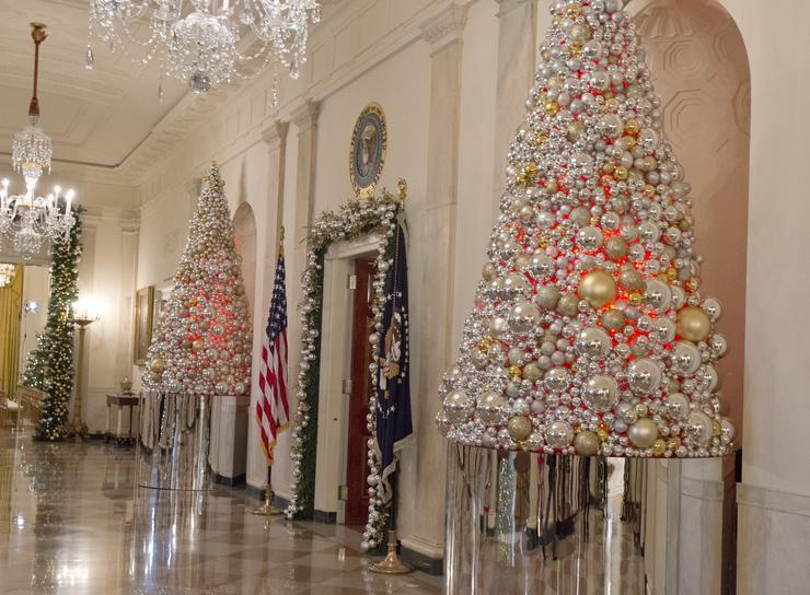 Így néz ki a Fehér Ház karácsony táján / Fotó: AFP