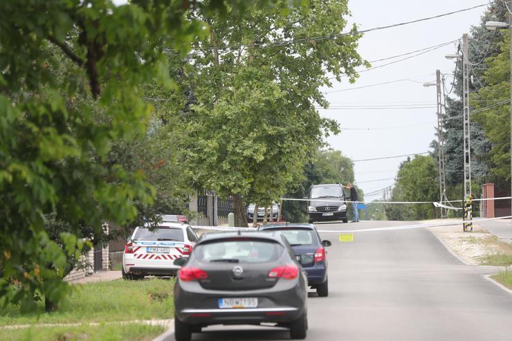 Az utcát lezárták  Fotó: Varga Imre
