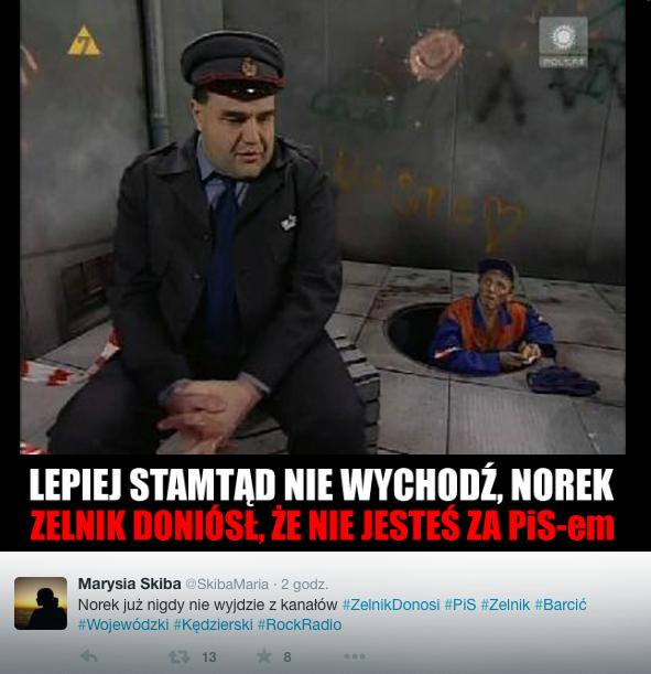 #Zelnikdonosi, fot. screen z twitter