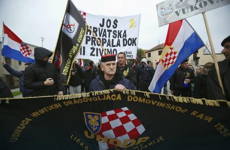 Miting protivnika ćirilice u Vukovaru