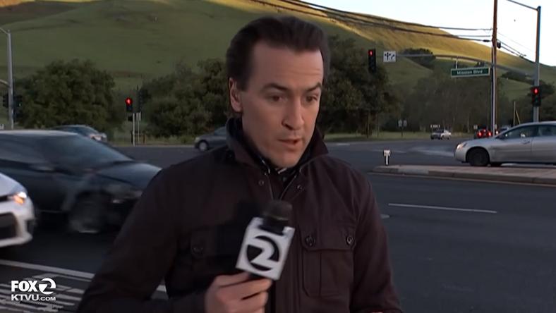 Egy hajszálon múlott a riporter élete / Fotó: Youtube
