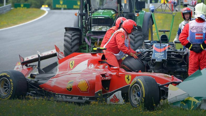 Fernando Alonso: Dobrze, że nie trafiłem Kimiego w głowę