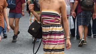Best Look: Jessica Hart w sukience Salvatore Ferragamo