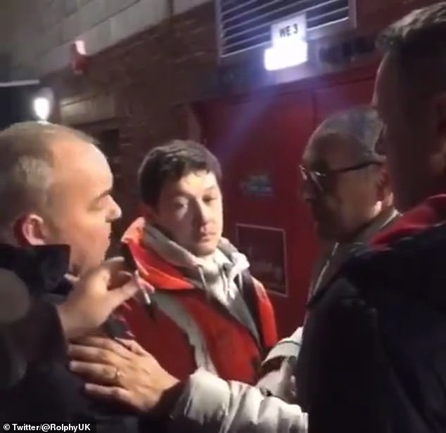 Maurizio Sarri and fan had a heated conversation