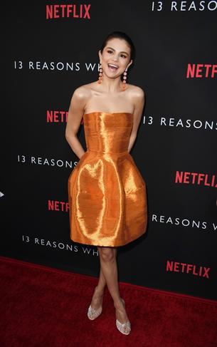 Best look: Selena Gomez w sukience Oscara de la Renty