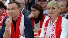 Andrzej Duda kibicował Polakom z przedstawicielami Polonii