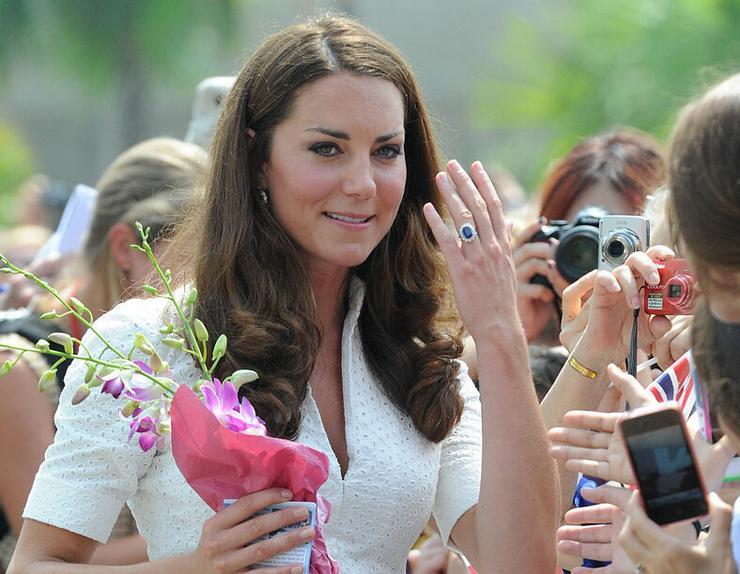 Katalin hercegné eljegyzési gyűrű lett az ékszer.