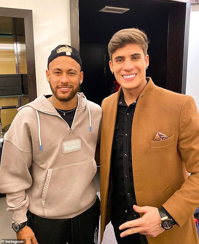 Tiago Ramos is a huge fan of Neymar and wrote the player in 2017 (Insatgram/Tiago Ramos)