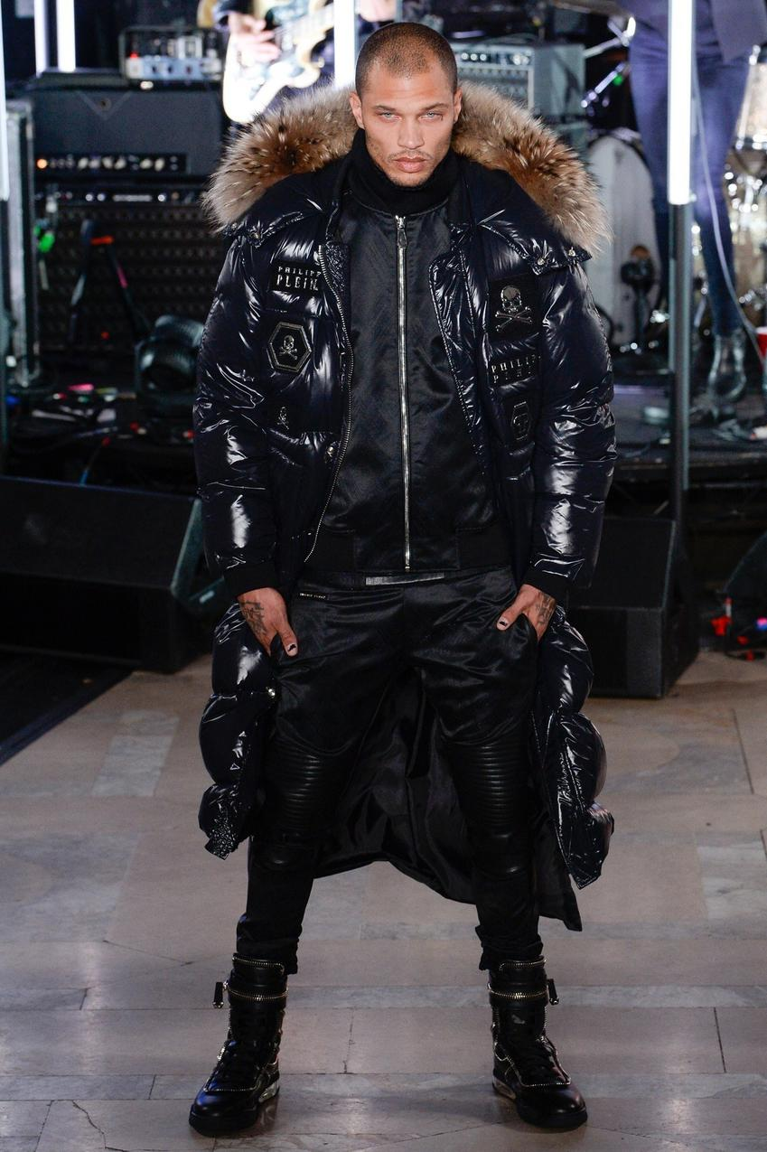 Jeremy Meeks na wybiegu podczas New York Fashion Week