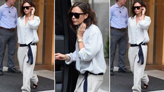 Best Look: Victoria Beckham w klapkach Celine