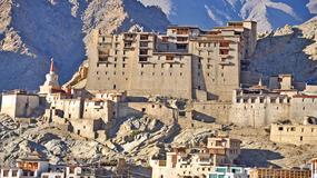 Pałac w Leh w Ladakhu - opuszczona, królewska rezydencja w indyjskich Himalajach