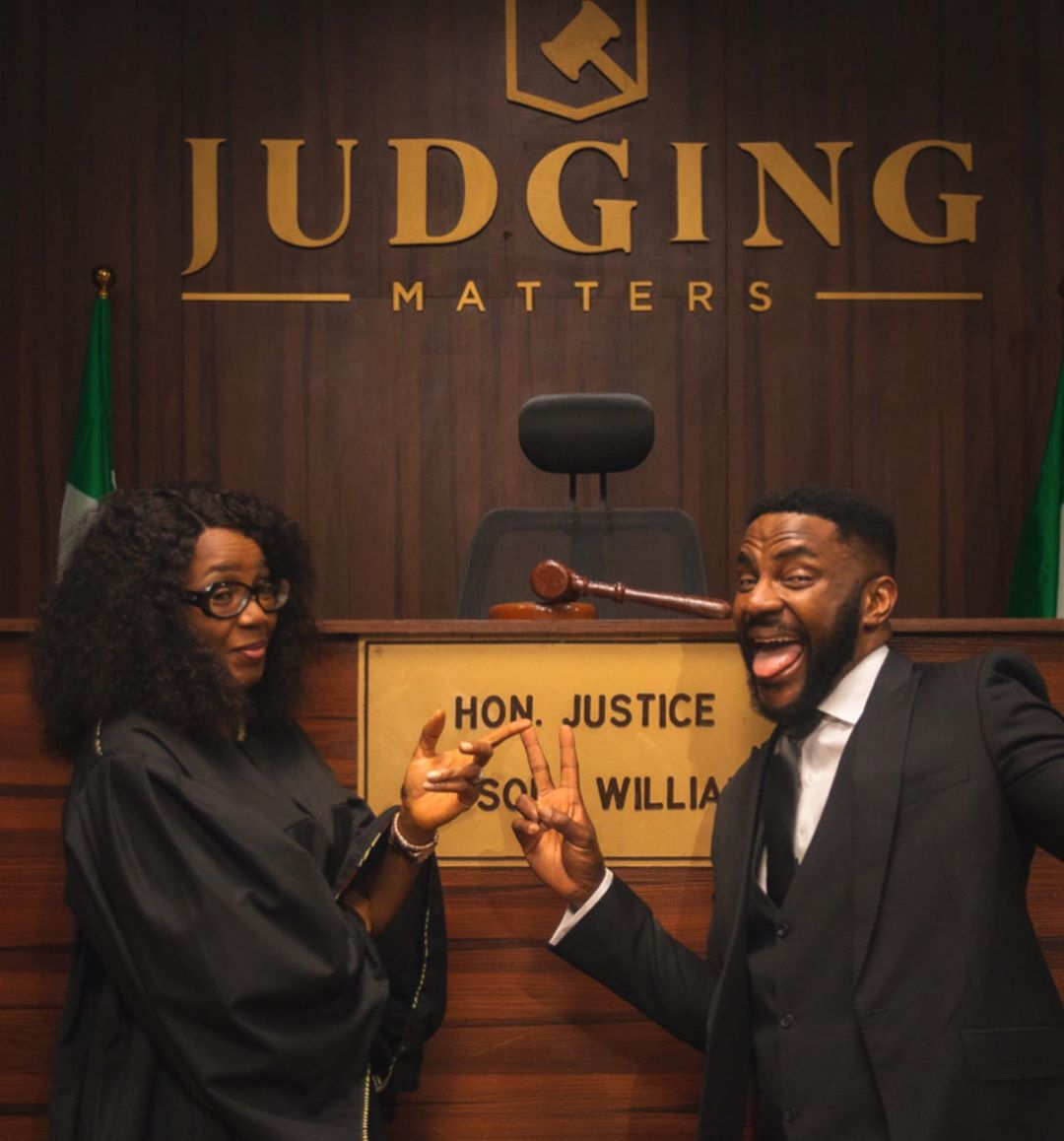 Behind the scenes from upcoming reality show 'Judging Matters' [Instagram/Ebuka]