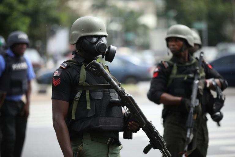 Police personnel in Nigeria on duty (Guardian)