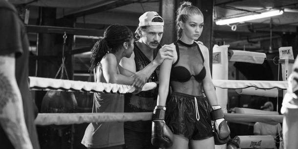 James Franco i Gigi Hadid na planie kampanii reklamowej