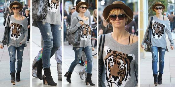 Best Look: Heidi Klum w swetrze BCBG