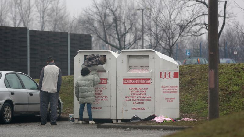 A csömöri konténert is megrohamozták a tolvajok /Fotó: Olvasóriporter