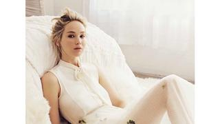 "Piękna i delikatna Jennifer Lawrence w sesji dla ""Marie Claire"""