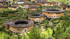 Chiny - tulou w prowincji Fujian