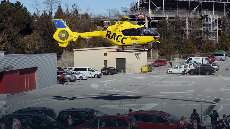 Fernando Alonso transportowany do szpitala