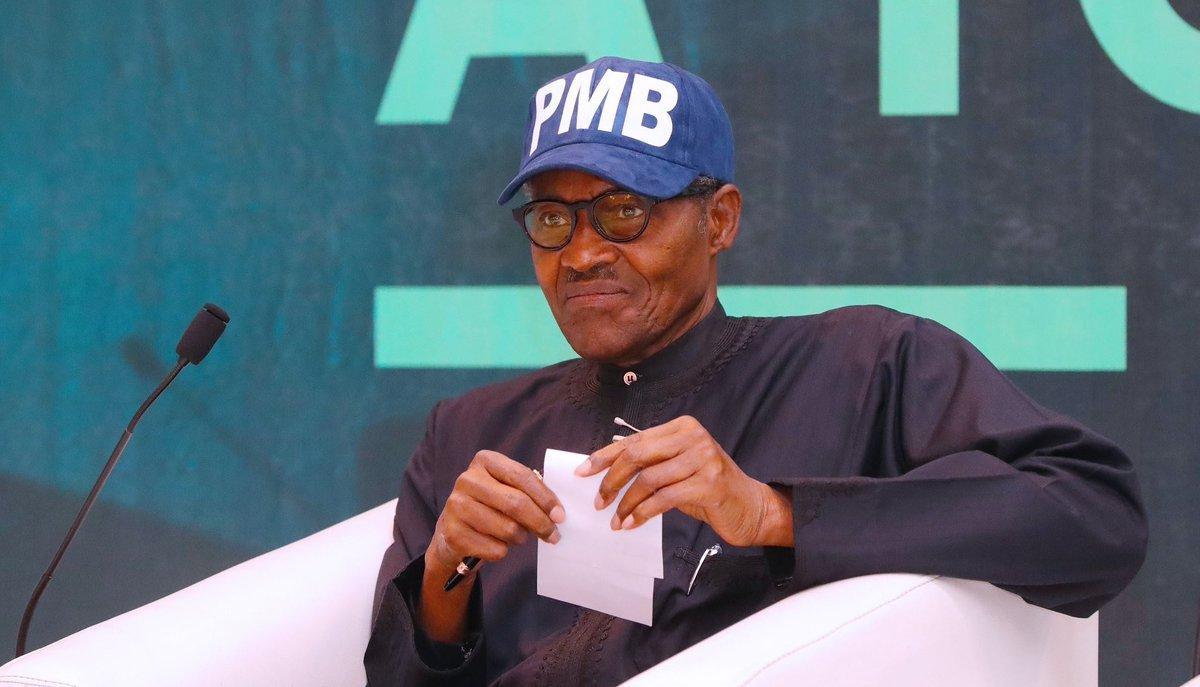 President Muhammadu Buhari, 76, is seeking re-election [Twitter/@BashirAhmaad]