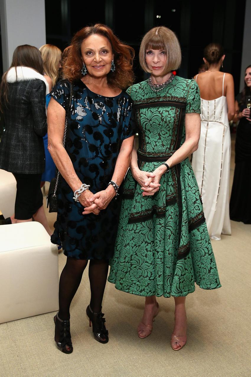 Diane von Furstenberg i Anna Wintour / fot. Getty Images