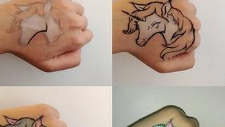 Kolorowe tatuaże tworzone za pomocą kosmetyków