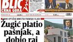 """Blic Crna Gora"": Ministar platio pašnjak, a dobio raj na obali mora"