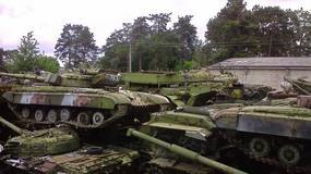 Cmentarzysko sowieckich czołgów