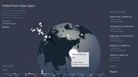 Interaktywna mapa dla miłośników meteorytów
